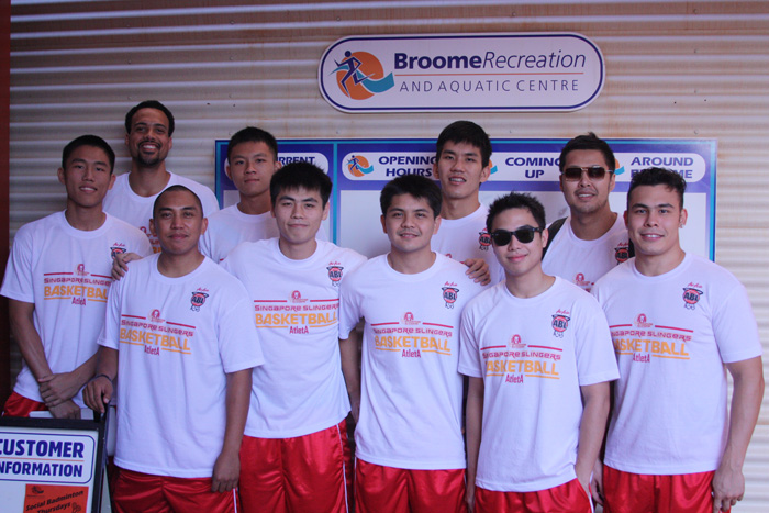The JobStreet.com Singapore Slingers (from left to right, top to bottom row) Kyle Jeffers, Sheng Yu Lim, Han Bin Ng, Jun Jun Cabatu, Wu Qingde, Don Dulay, Desmond Oh, Damien Goh Teck Beng, Jai Reyes, and Mitch Folkoff.