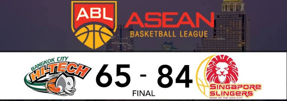 Singapore Slingers defeat ABL Defending Champions HiTech Bangkok City in Thailand